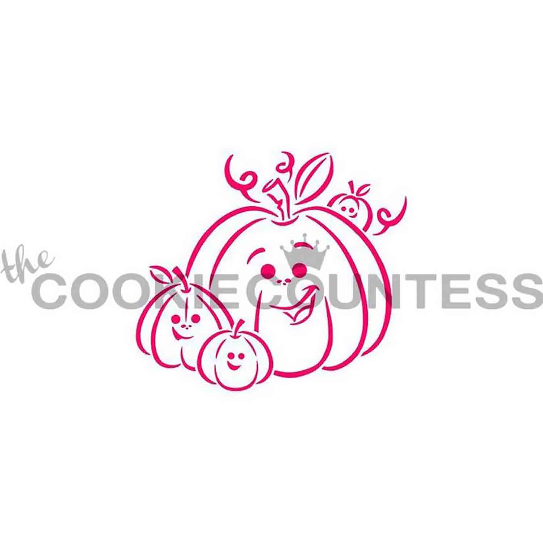 Pumpkin Family Cookie Stencil