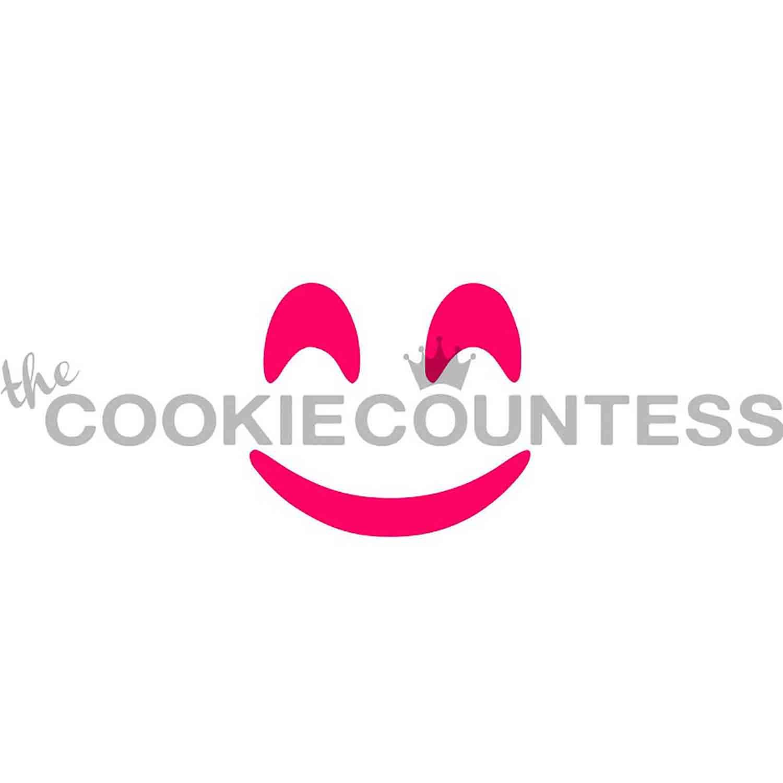 Smiling Emoji Cookie Stencil