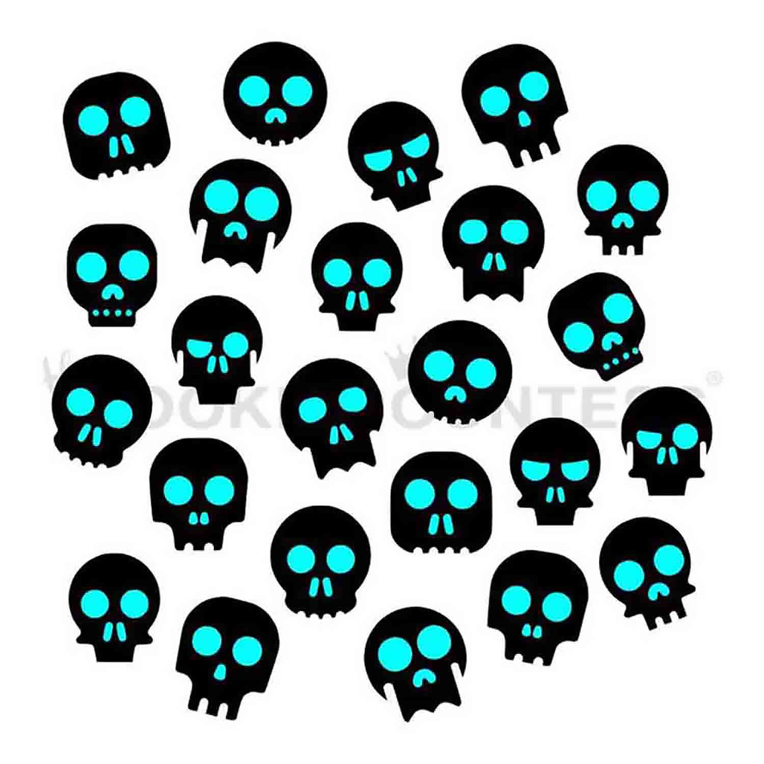 Skeleton Heads Cookie Stencil Set