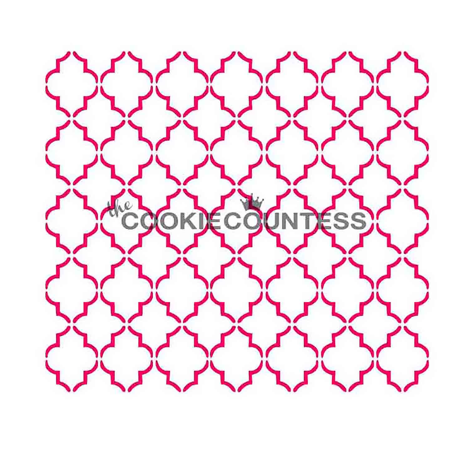 Small Quatrefoil Cookie Stencil