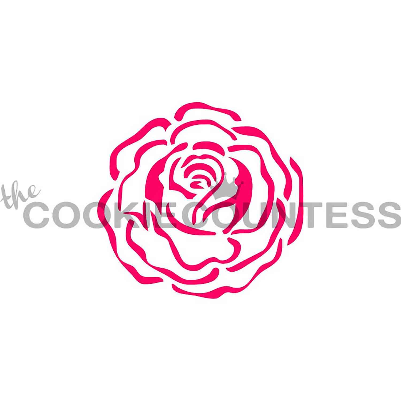 Single Rose Cookie Stencil