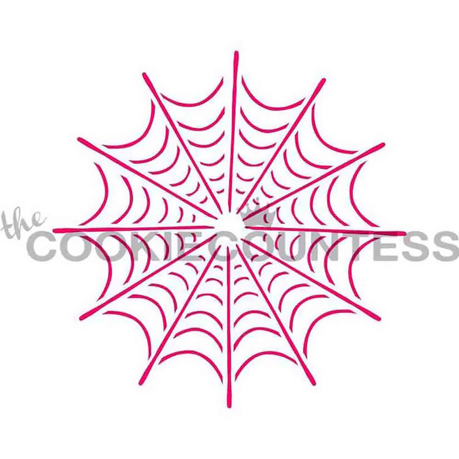 Spider Web Cookie Stencil