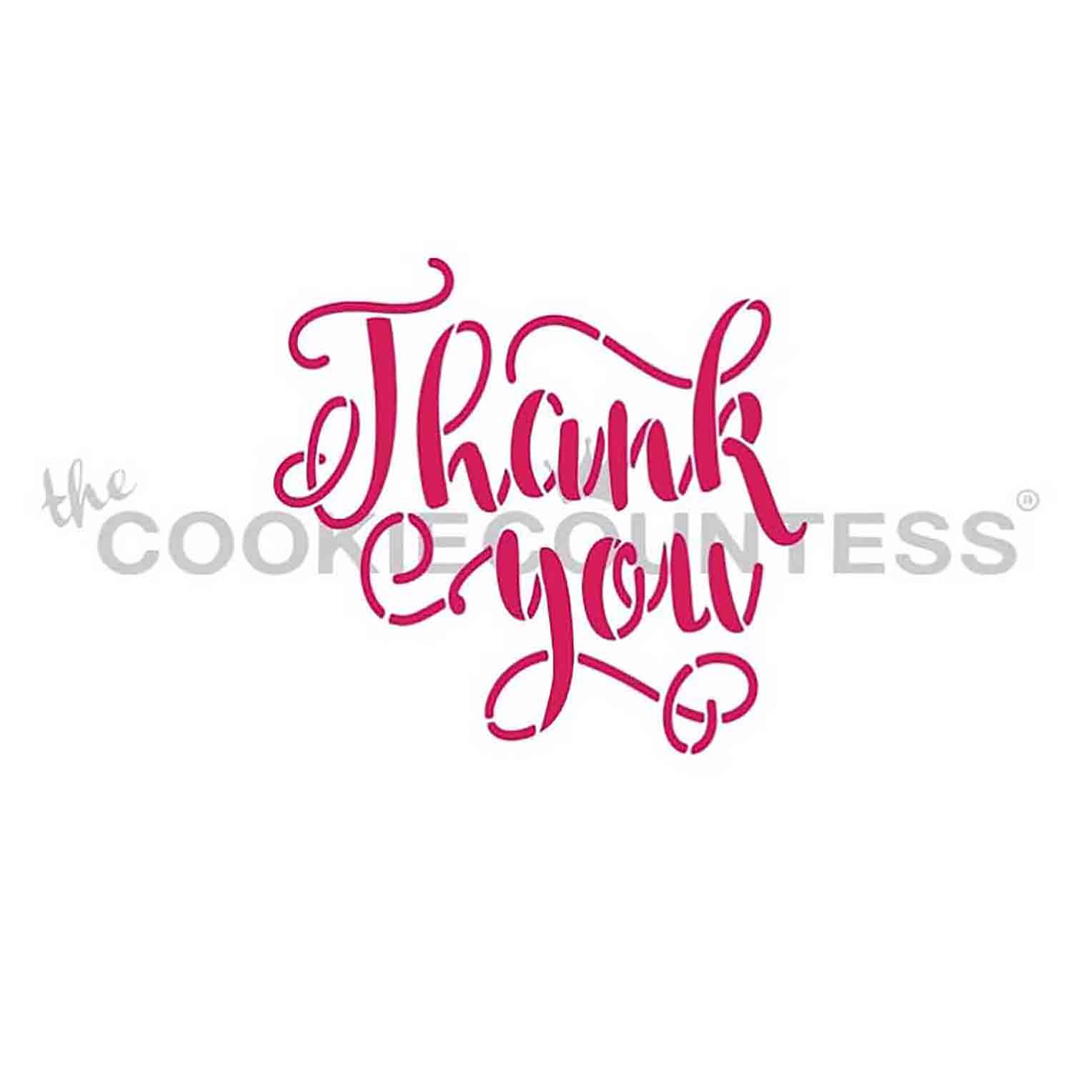 Thank You Lettering Stencil