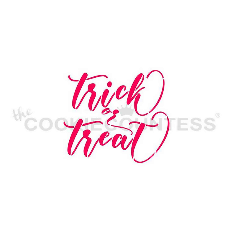 Trick or Treat Cookie Stencil