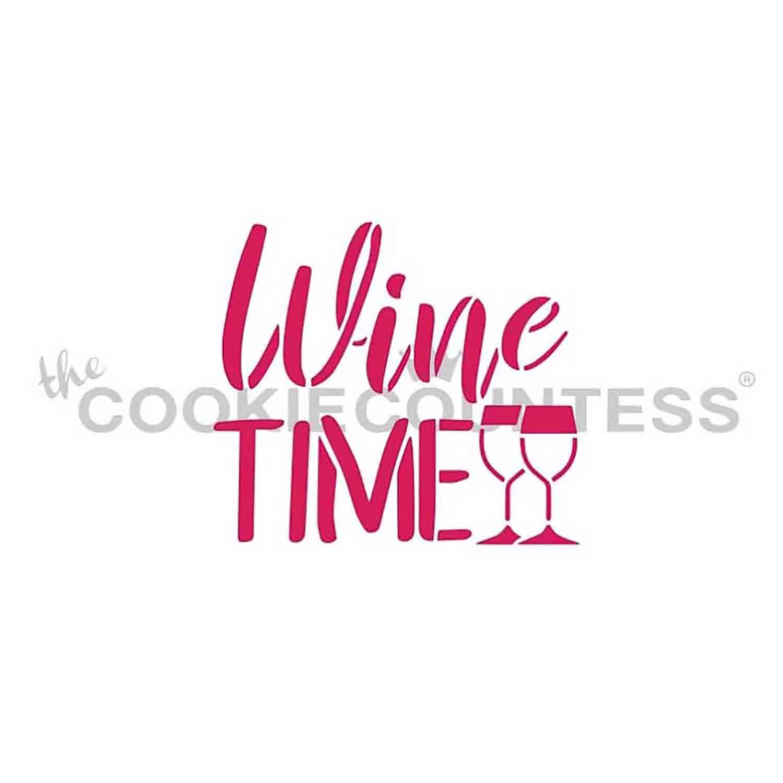 Wine Time Stencil