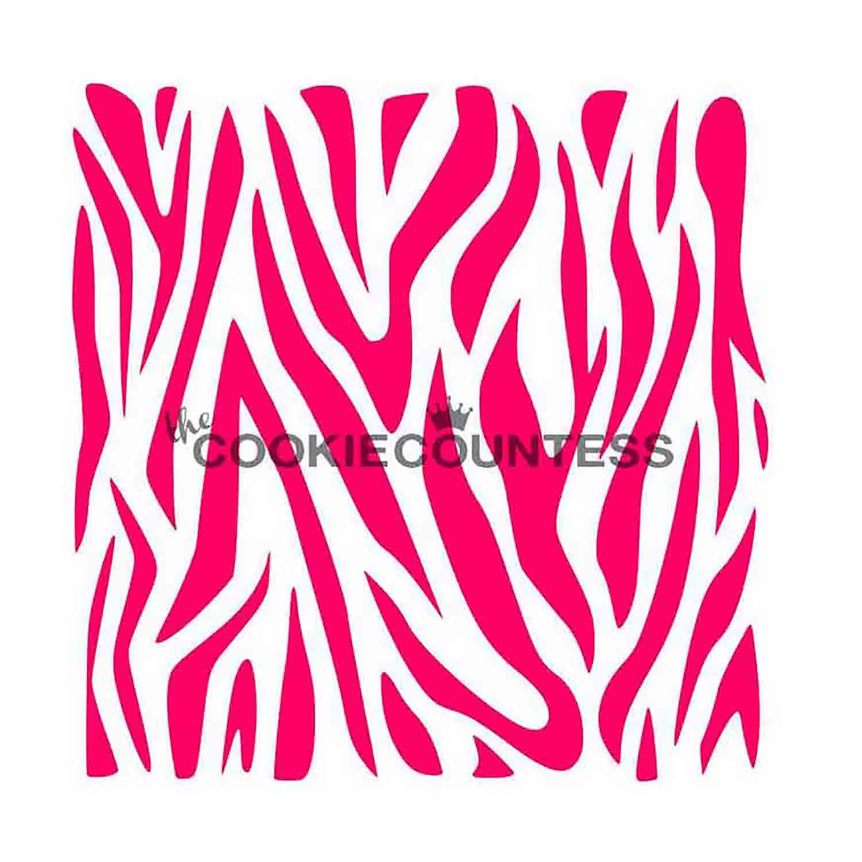 Zebra Cookie Stencil