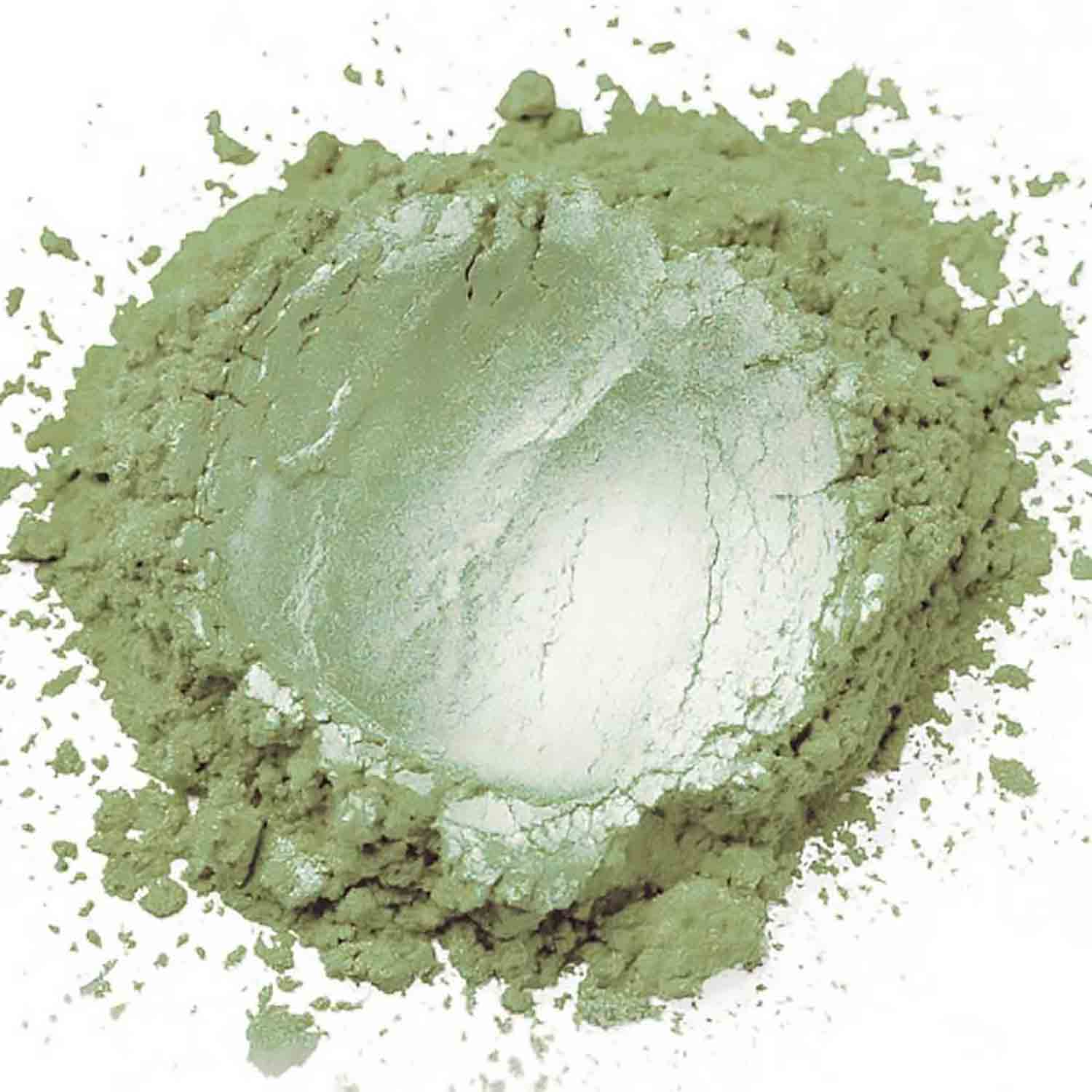 Frosted Green Sterling Pearl Dust