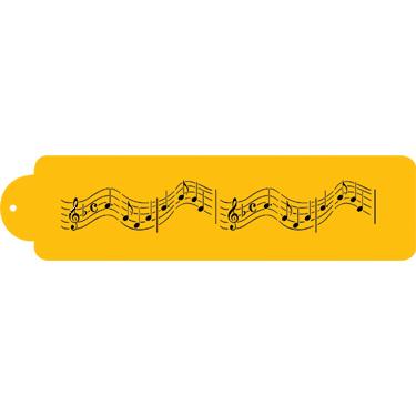 Musical Notes Designer Stencil