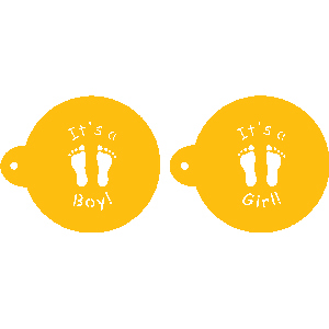 Mini Baby Feet Designer Stencil