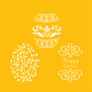 Large Easter Eggs Designer Stencil