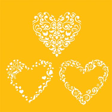 Valentine Hearts Deisnger Stencil