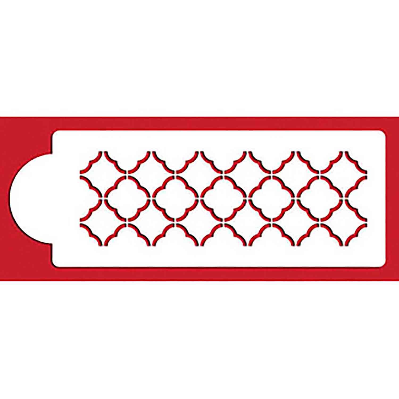 Quatrefoil Outline Designer Stencil