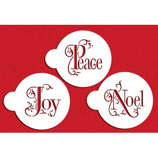 JOY, NOEL, PEACE Designer Stencil