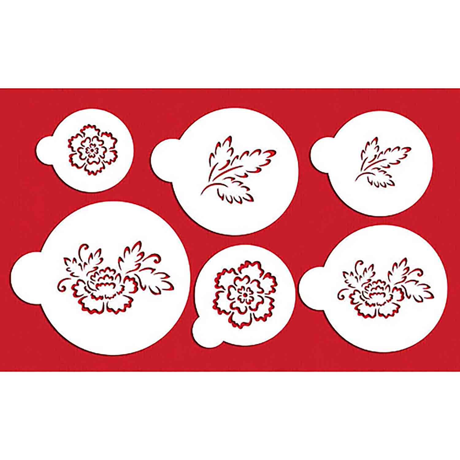 Brush Embroidery Flower Stencil Set