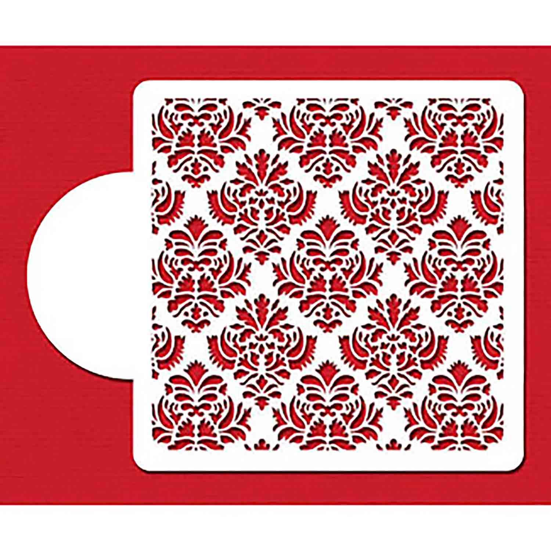 Damask Miniprint Designer Stencil