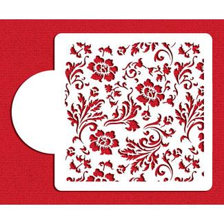 Chic Rose Miniprint Designer Stencil