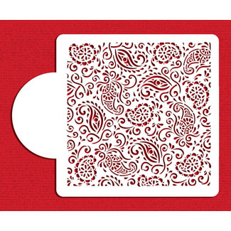 Henna Paisley Miniprint Designer Stencil