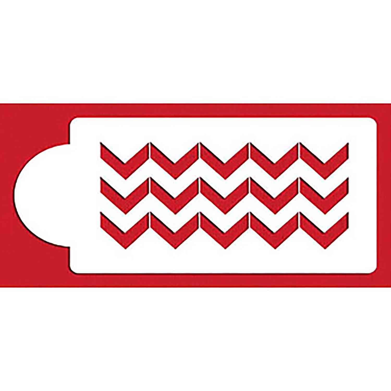 Wide Chevron Designer Stencil