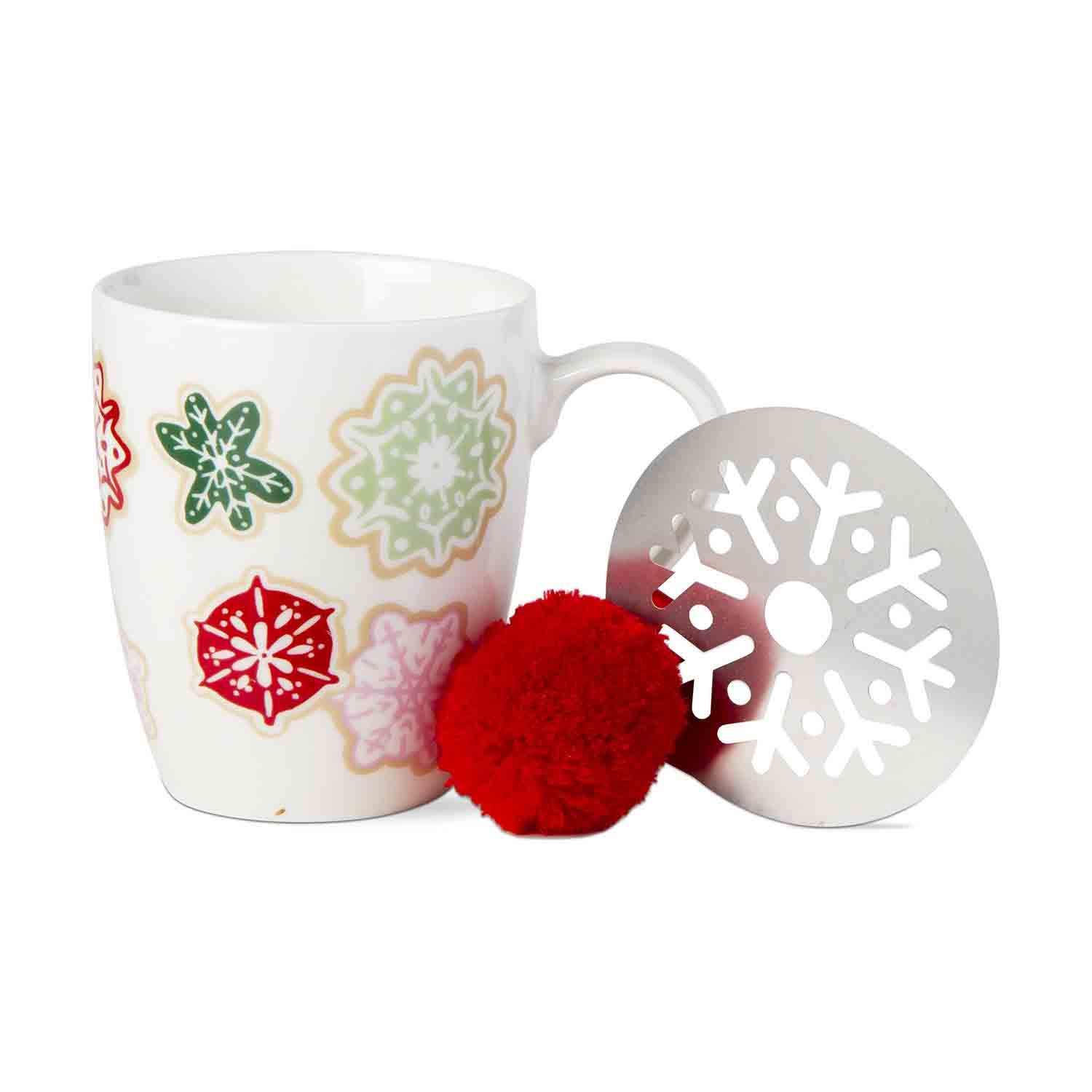 Snowflake Mug And Stencil Set