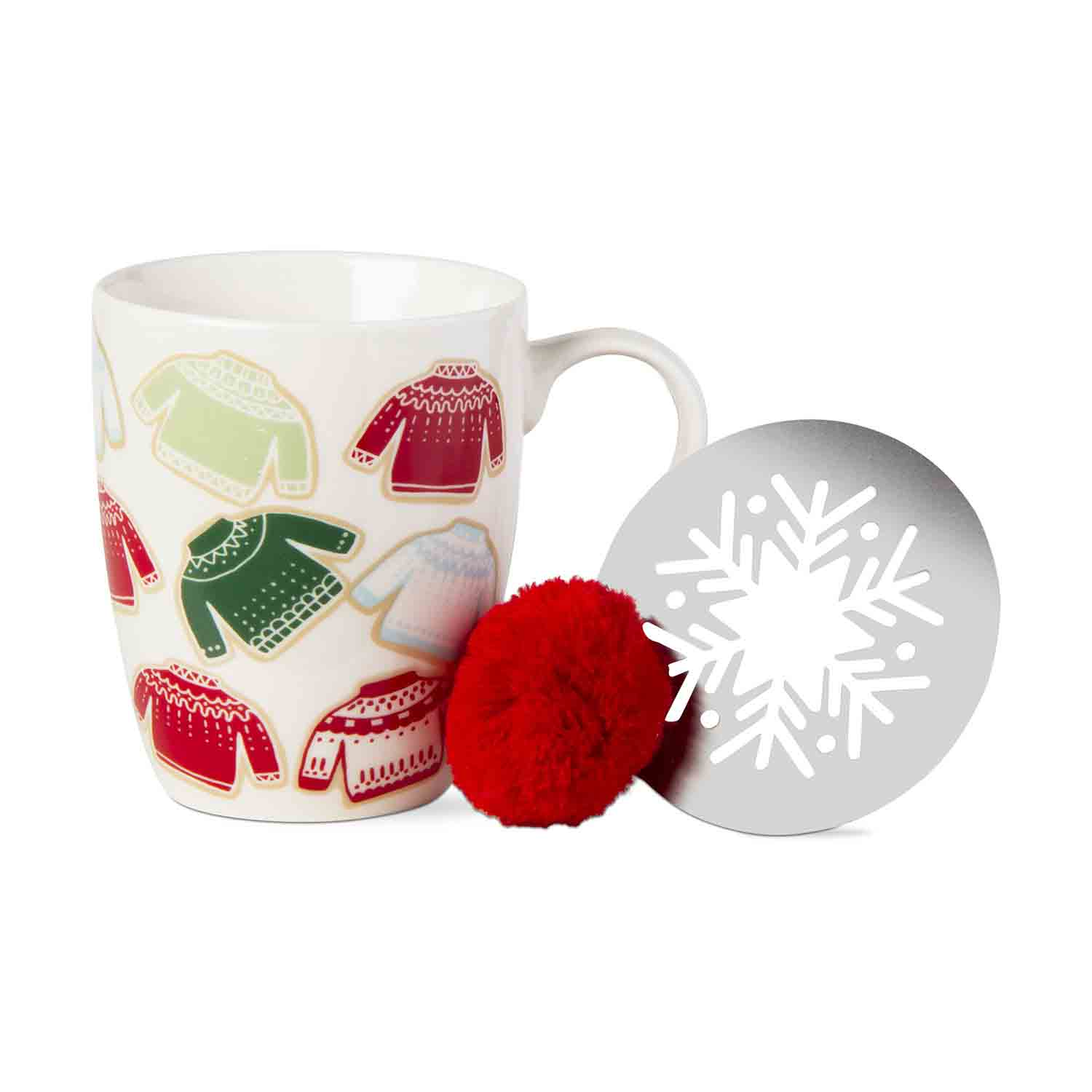 Christmas Sweater Mug And Stencil Set