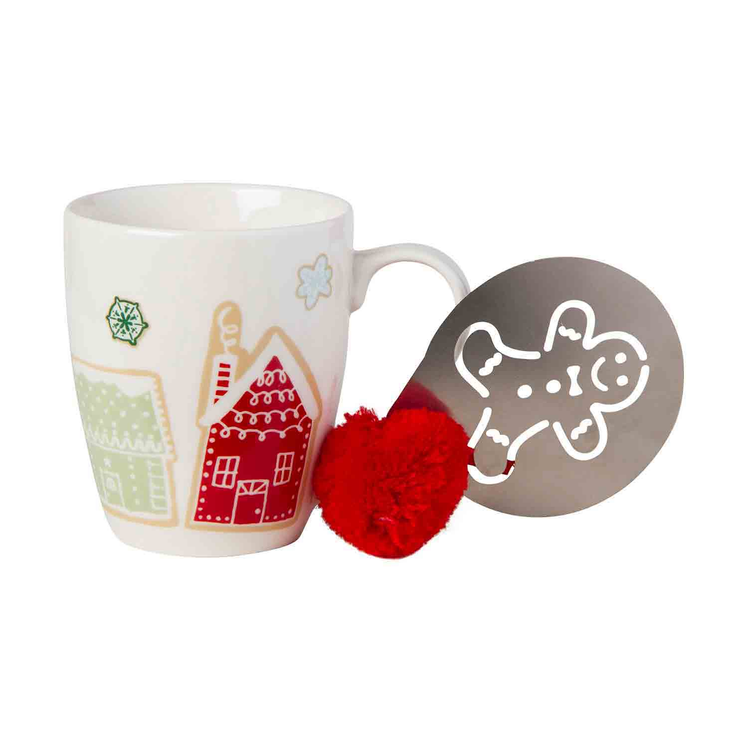 Gingerbread Mug And Stencil Set