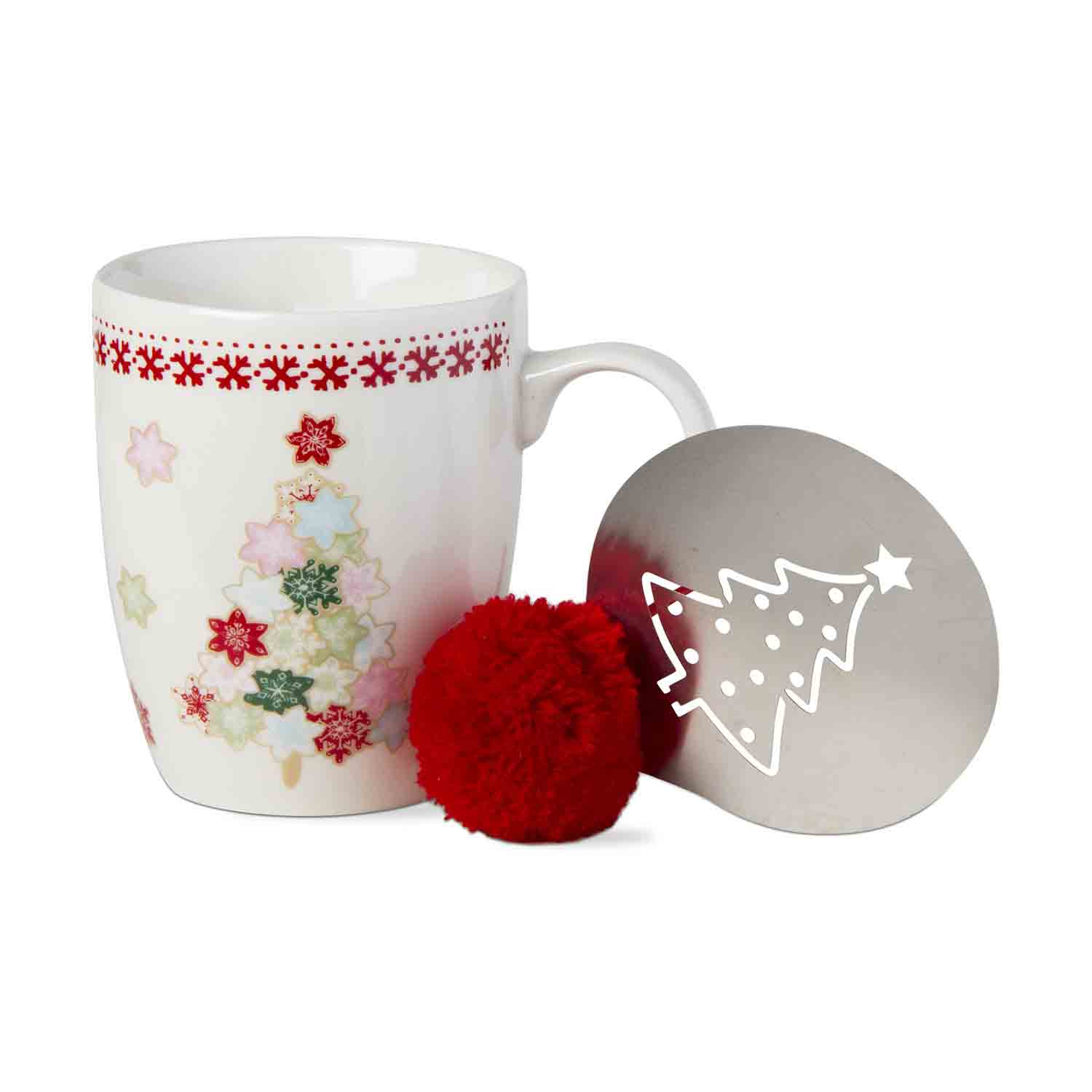 Christmas Tree Mug And Stencil Set