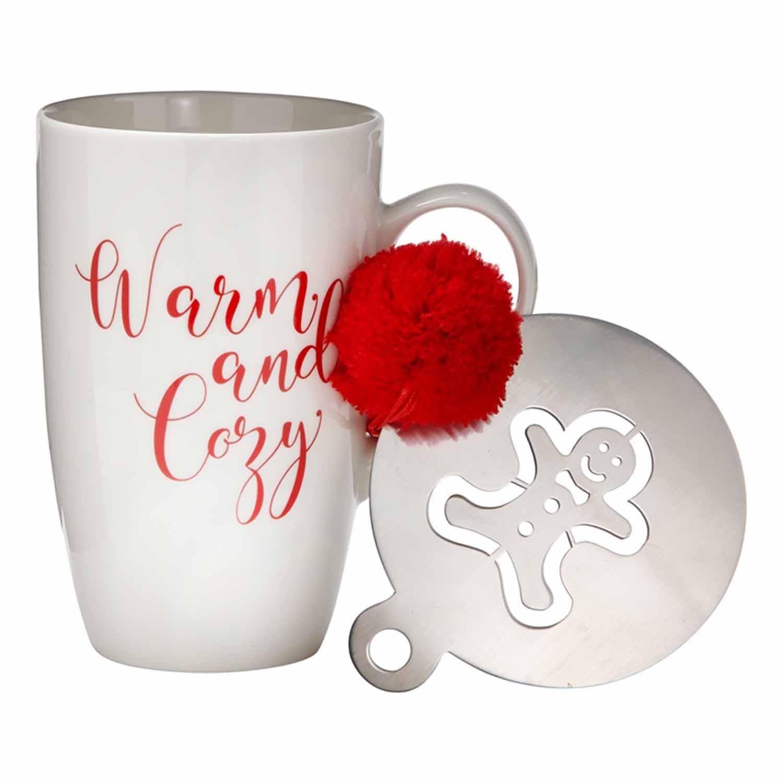 Warm And Cozy Mug & Stencil Set
