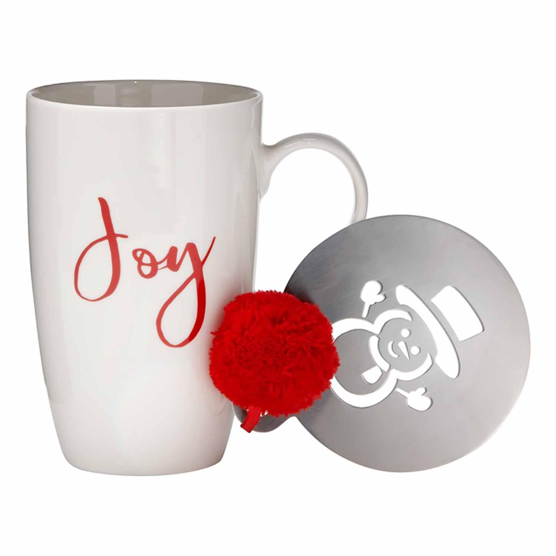 Joy Mug & Stencil Set
