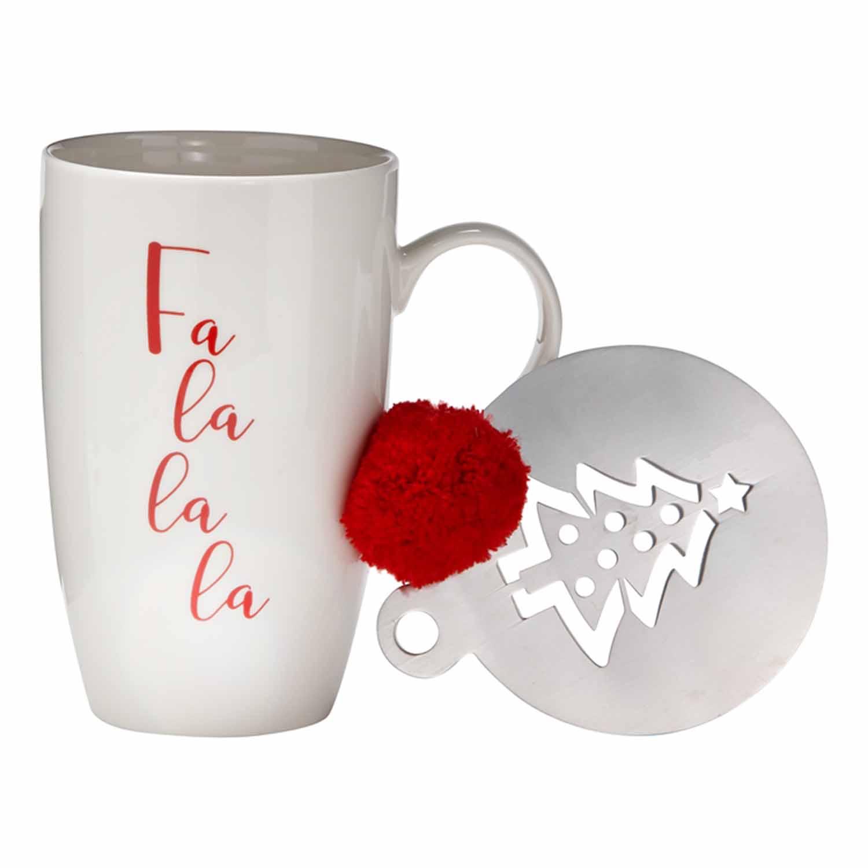Fa La La La Mug & Stencil Set