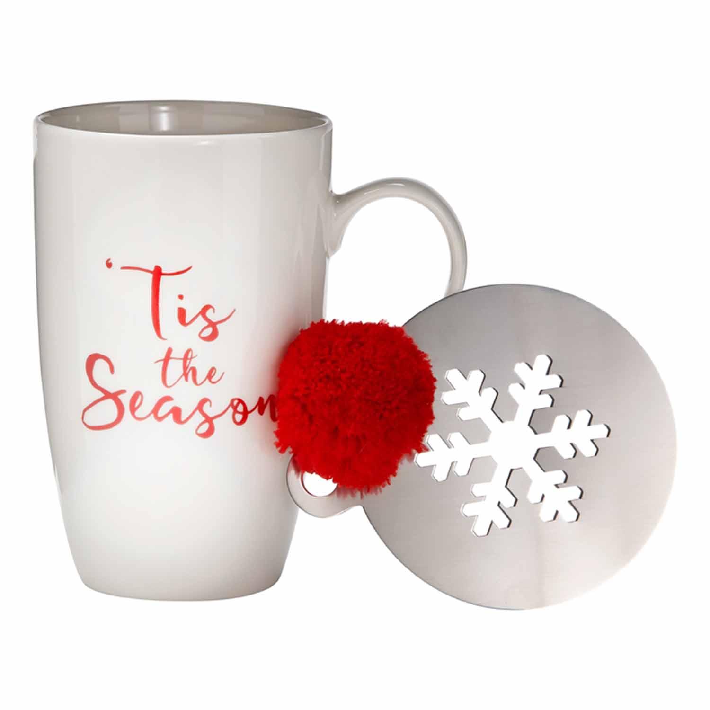'Tis the Season Mug & Stencil Set