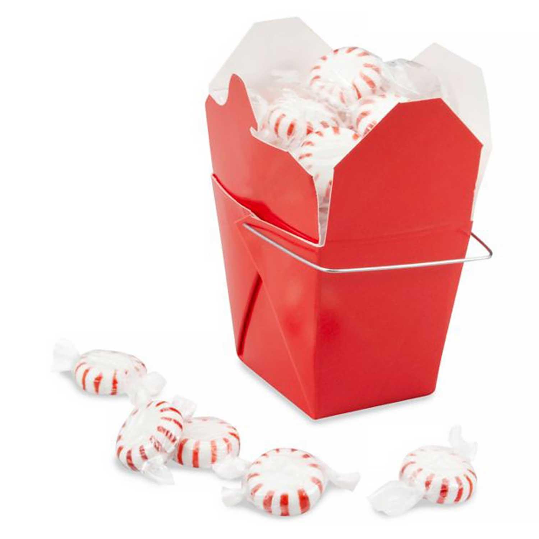 1/2 lb. Red Take Out Treat Box