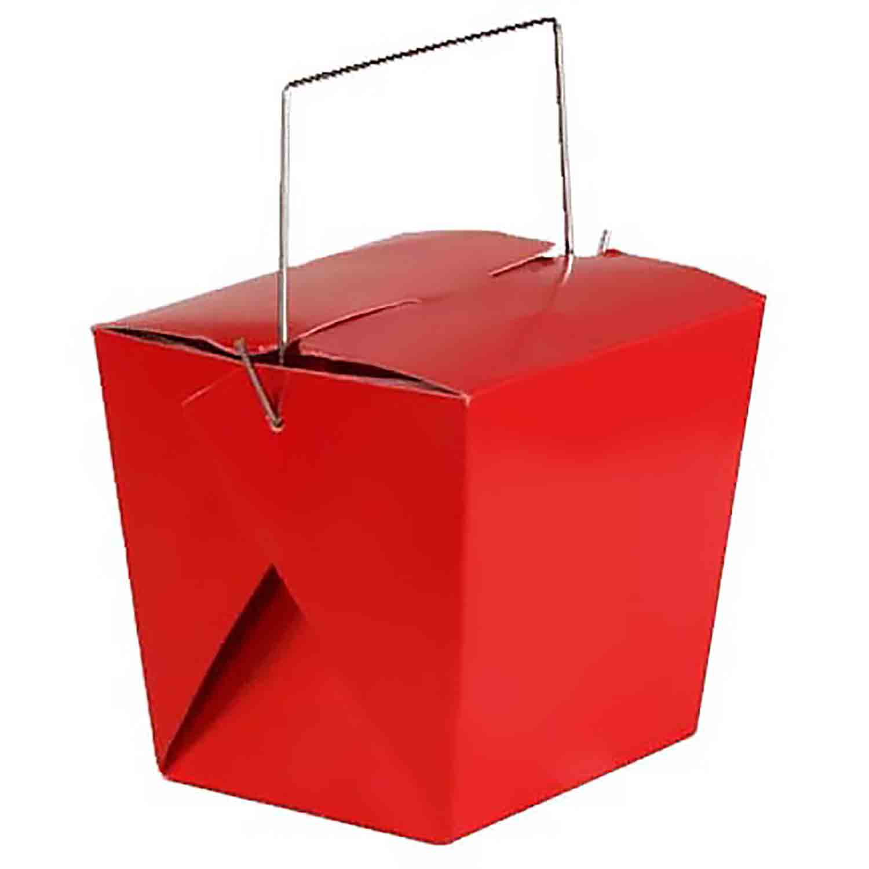 1 lb. Red Take Out Treat Box