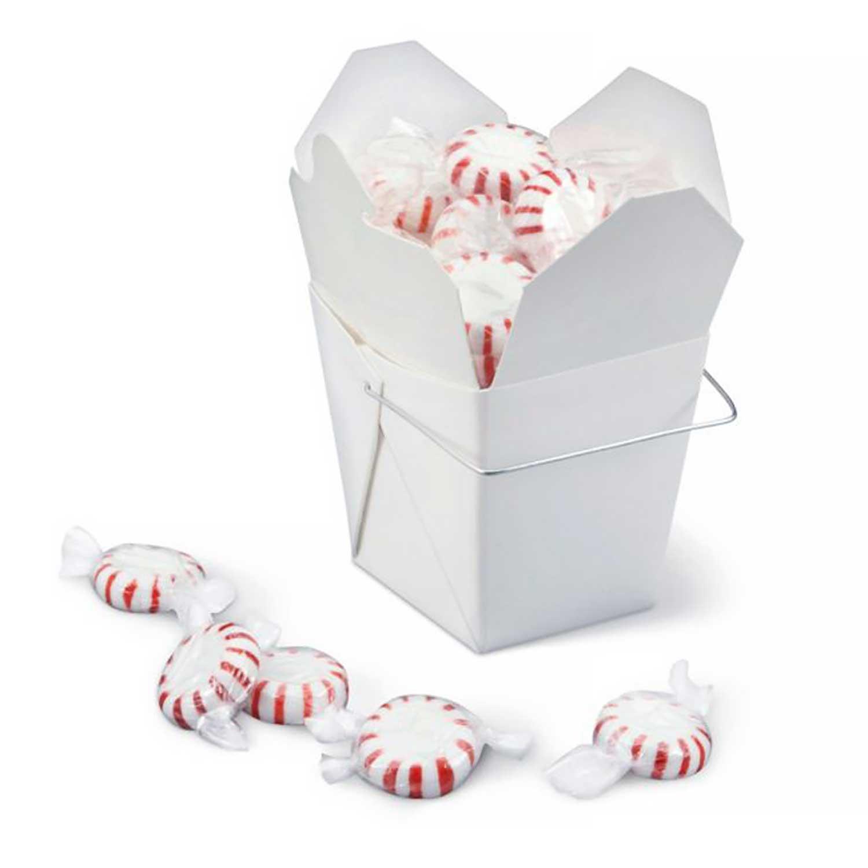 1/2 lb. White Take Out Treat Box