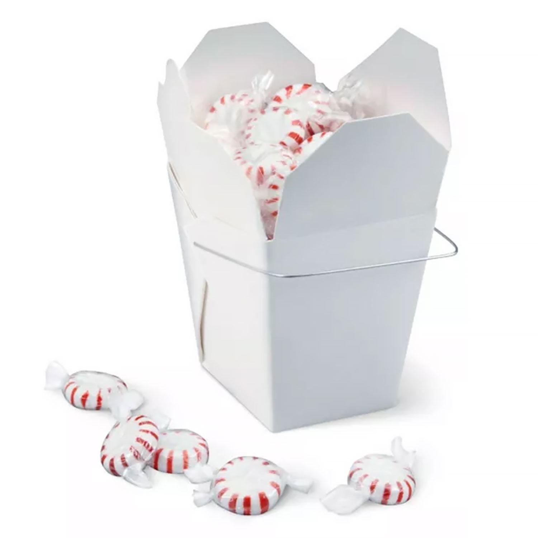 1 lb. White Take Out Treat Box