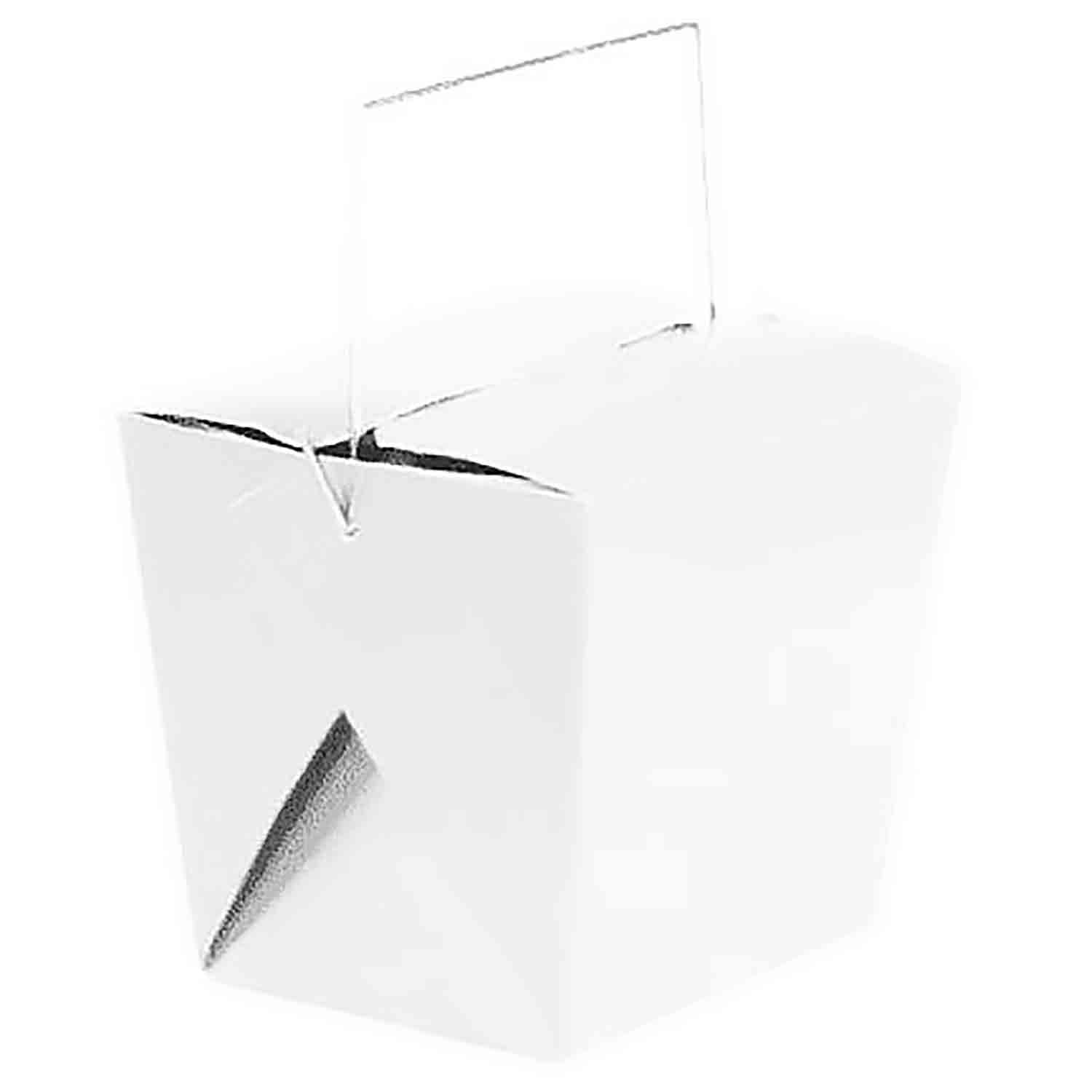 2 lb. White Take Out Treat Box