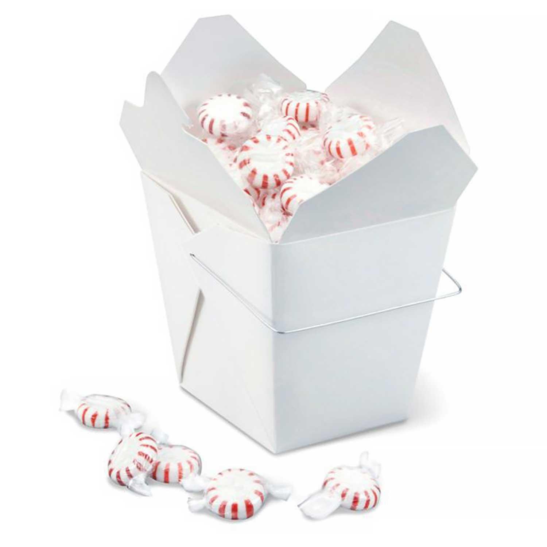 2 lb. White Take Out Treat Box