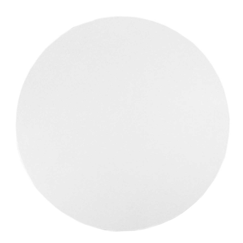 """10"""" Round White Foil Sturdy Board"""