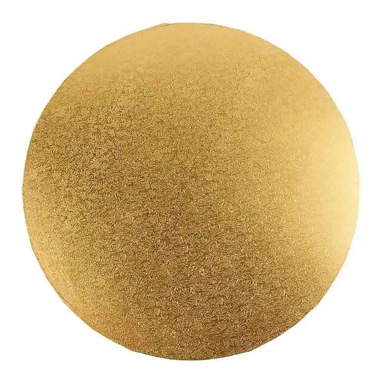 "12"" Round Gold Foil Sturdy Board"