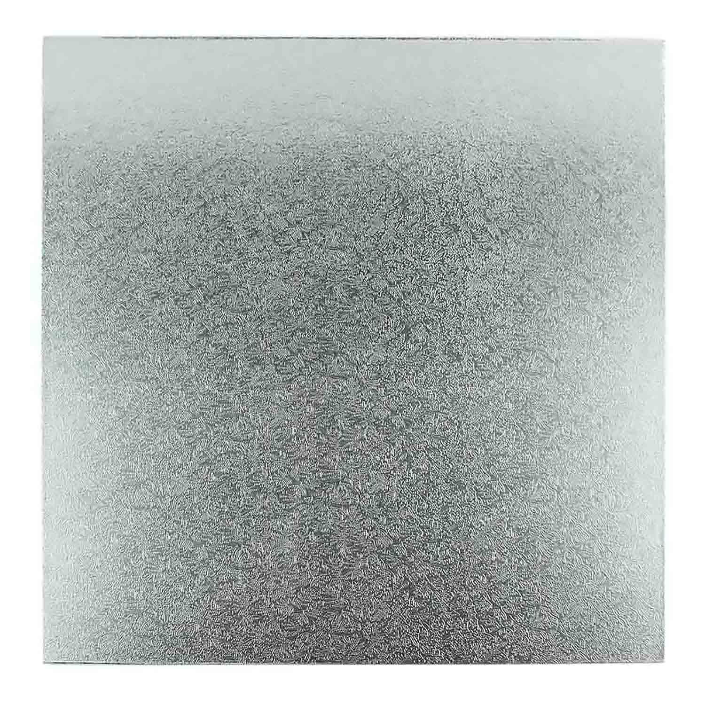 """8"""" Square Silver Foil Sturdy Board"""
