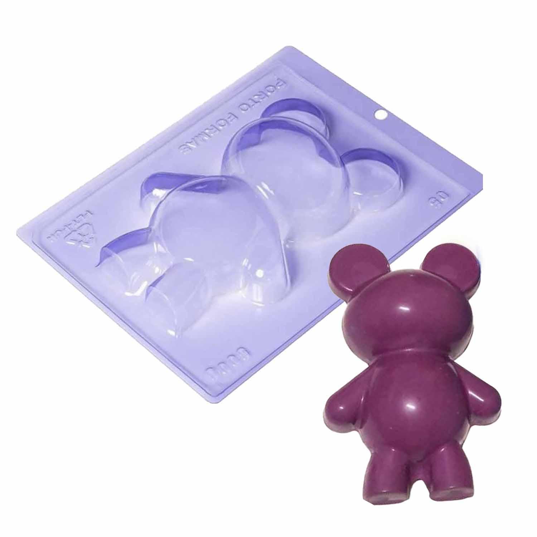Three Part Teddy Bear Mold
