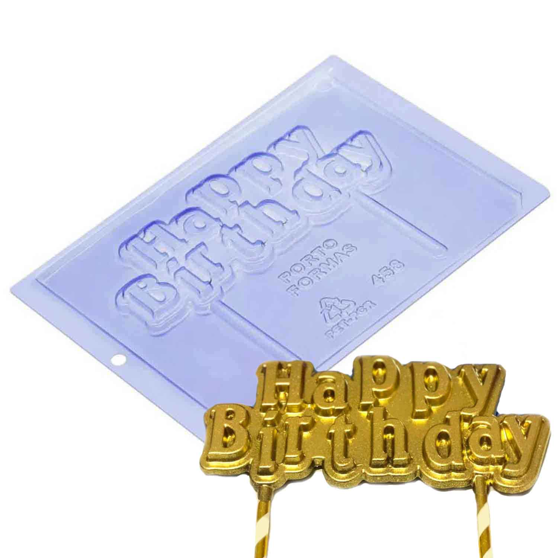 Happy Birthday Cake Topper Chocolate Mold