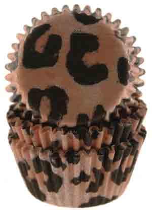 Leopard Print Mini Baking Cups