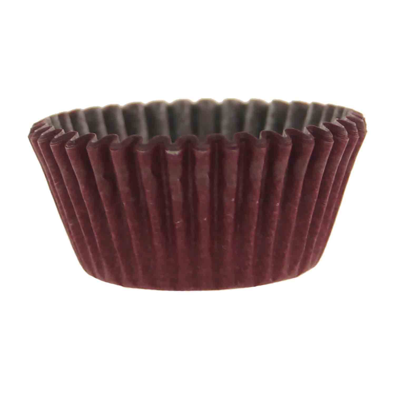 Solid Burgundy Mini Baking Cups