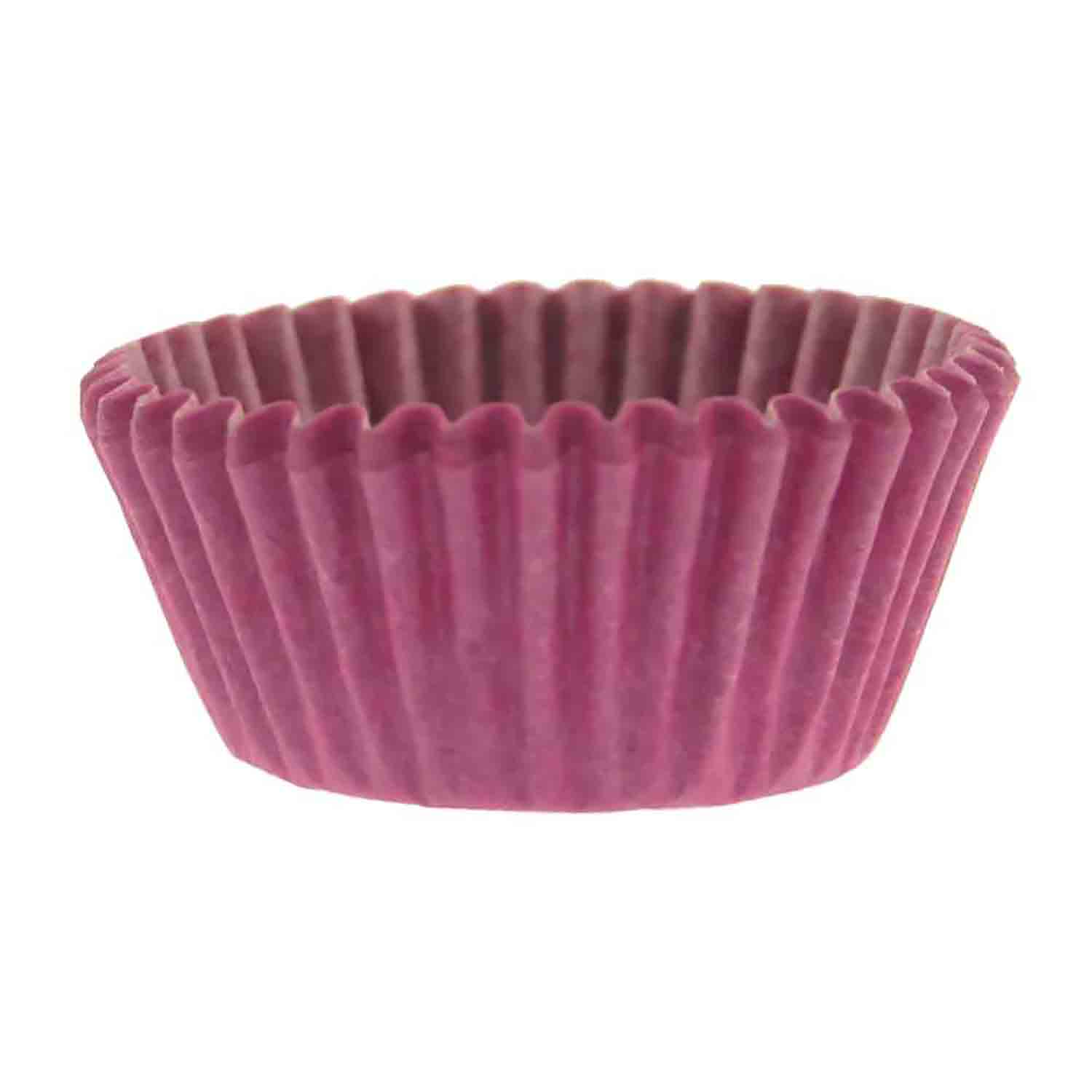 Solid Orchid Mini Baking Cups