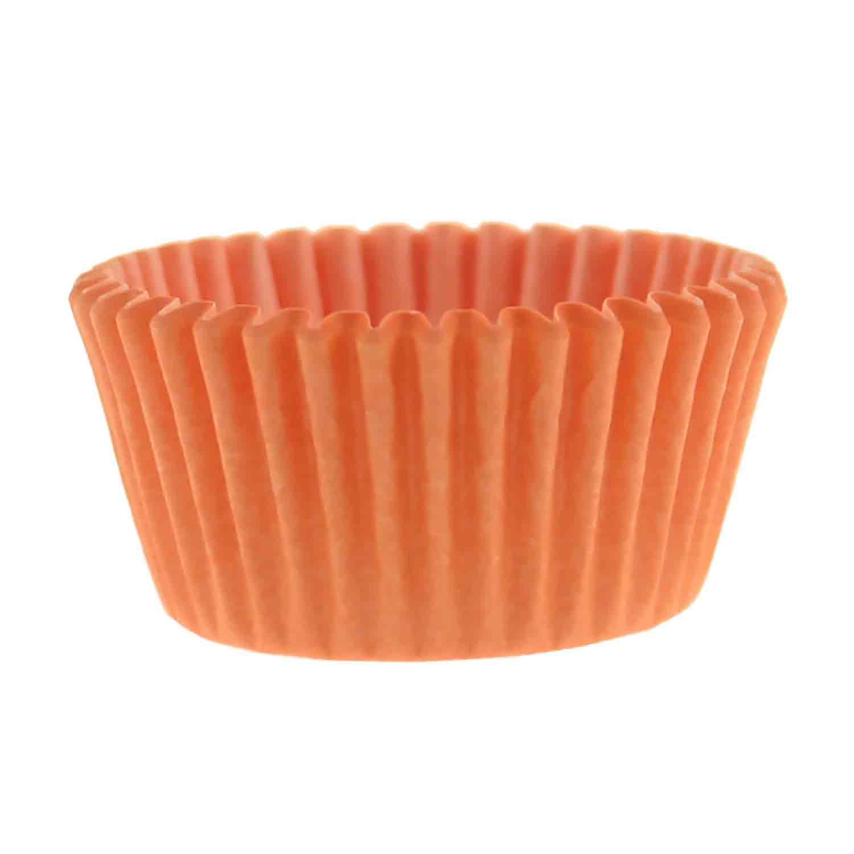 Solid Peach Mini Baking Cups