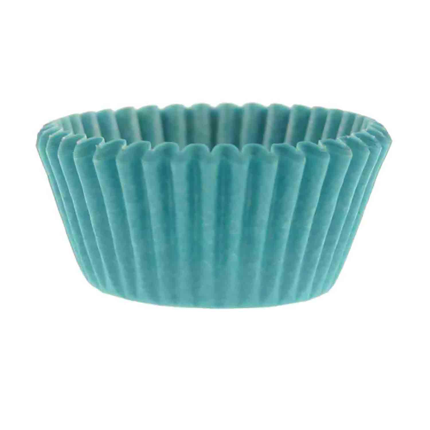 Turquoise Mini Baking Cups