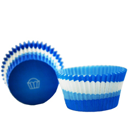 Blue Swirl Mini Baking Cups