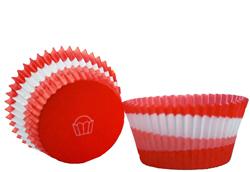 Red Swirl Mini Baking Cups