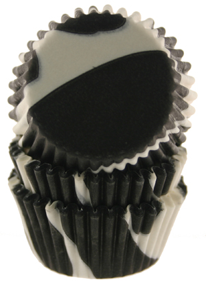 Zebra Print Mini Baking Cups