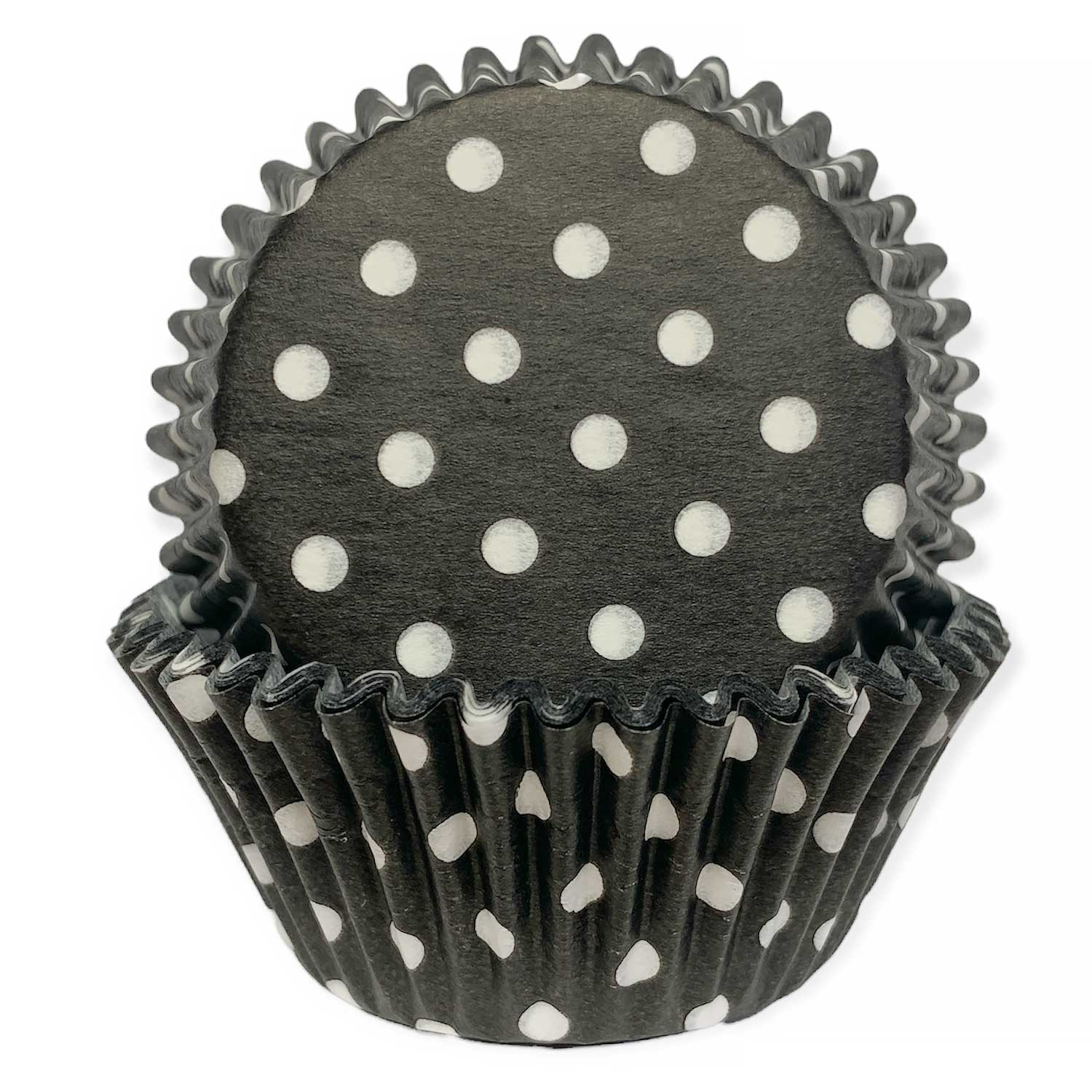 Black With White Dots Standard Baking Cups